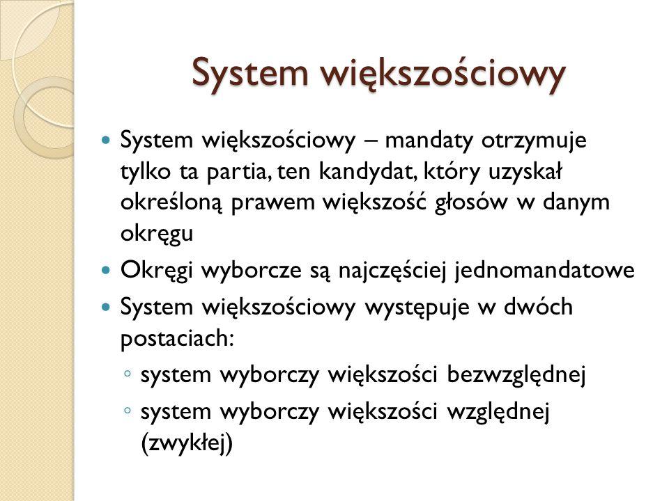 System większościowy
