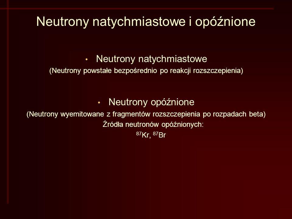 Neutrony natychmiastowe i opóźnione