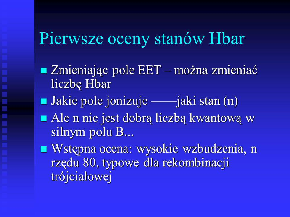 Pierwsze oceny stanów Hbar