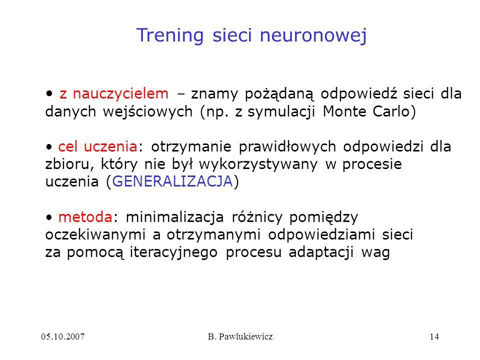 Trening sieci neuronowej