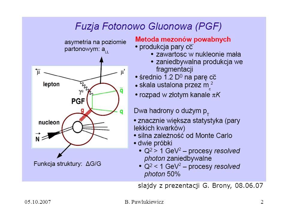 slajdy z prezentacji G. Brony, 08.06.07