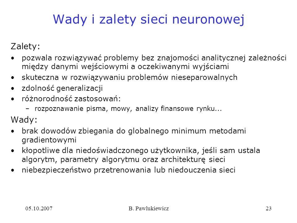 Wady i zalety sieci neuronowej