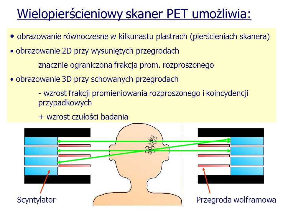 Wielopierścieniowy skaner PET umożliwia: