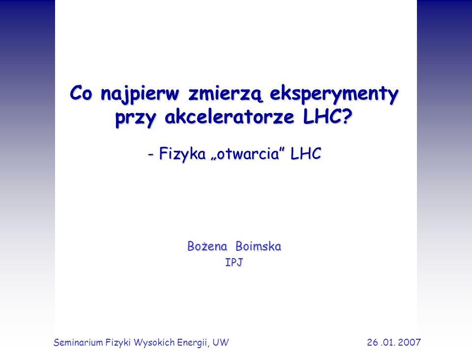 Co najpierw zmierzą eksperymenty przy akceleratorze LHC