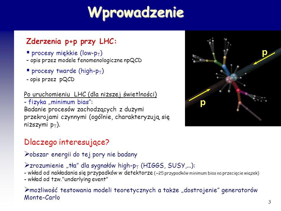 Wprowadzenie p Dlaczego interesujące Zderzenia p+p przy LHC: