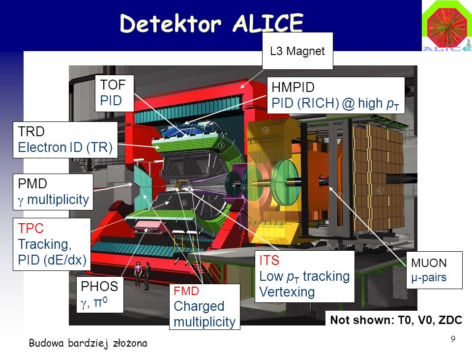 Detektor ALICE TOF HMPID PID PID high pT TRD Electron ID (TR)