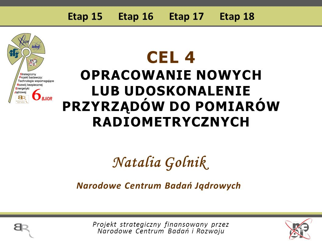 Natalia Golnik Narodowe Centrum Badań Jądrowych