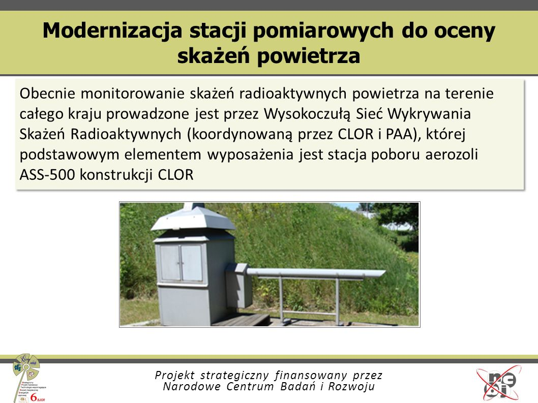 Modernizacja stacji pomiarowych do oceny skażeń powietrza