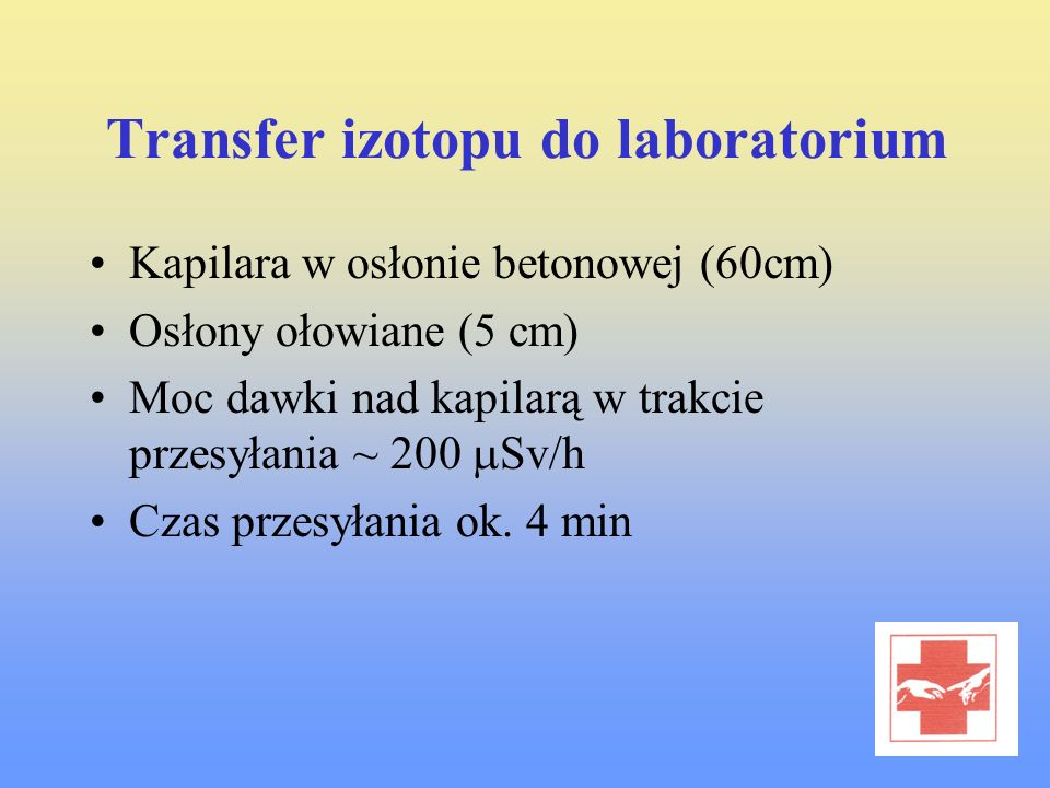 Transfer izotopu do laboratorium