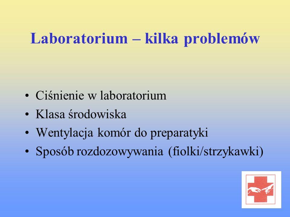 Laboratorium – kilka problemów