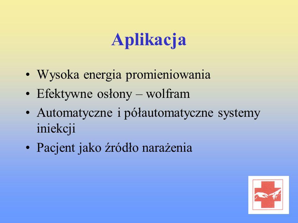 Aplikacja Wysoka energia promieniowania Efektywne osłony – wolfram