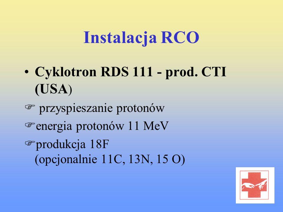 Instalacja RCO Cyklotron RDS 111 - prod. CTI (USA)
