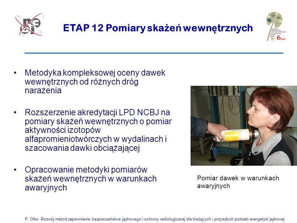 ETAP 12 Pomiary skażeń wewnętrznych
