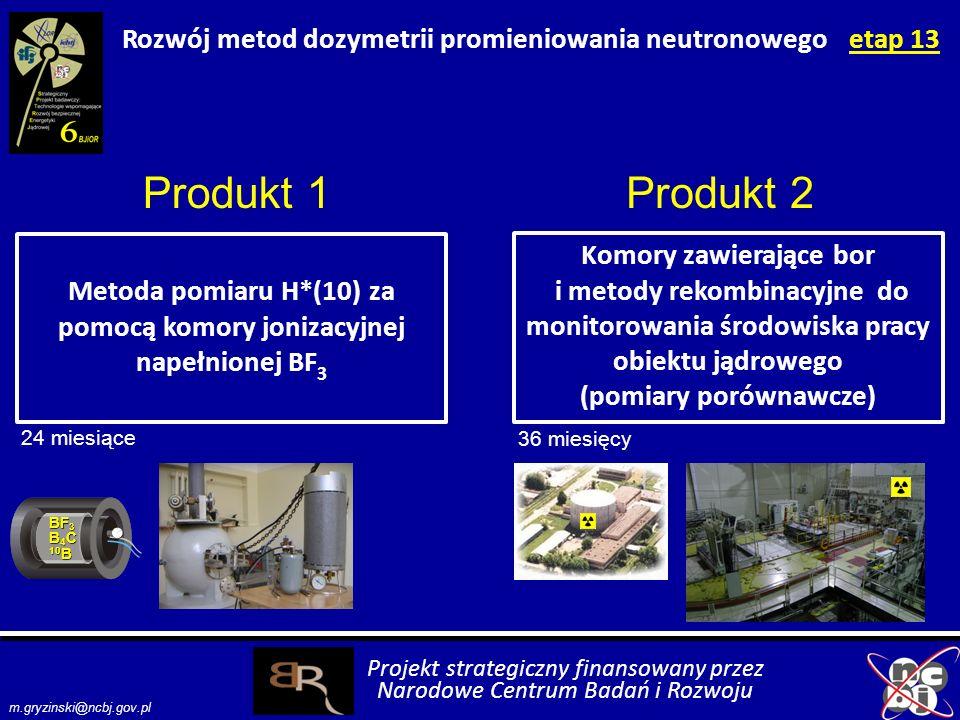 Rozwój metod dozymetrii promieniowania neutronowego etap 13