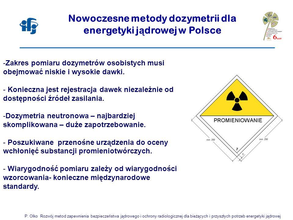 Nowoczesne metody dozymetrii dla energetyki jądrowej w Polsce