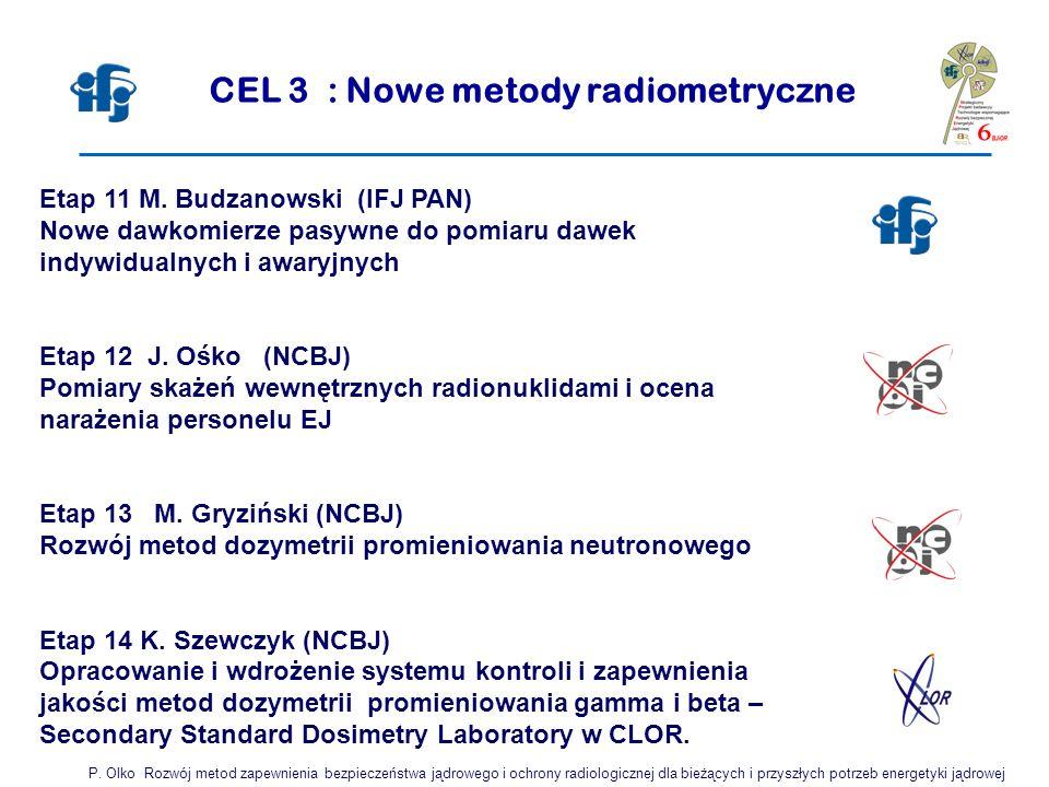 CEL 3 : Nowe metody radiometryczne
