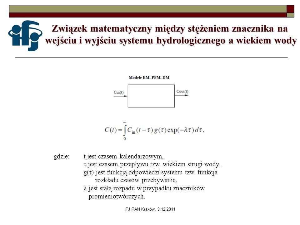Związek matematyczny między stężeniem znacznika na