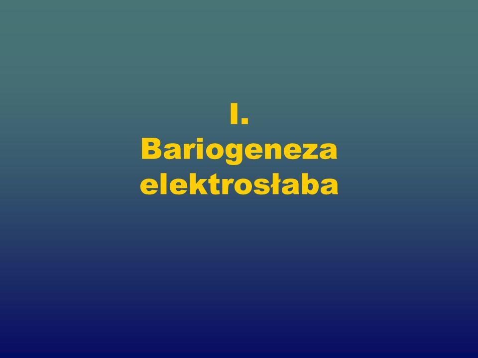 I. Bariogeneza elektrosłaba