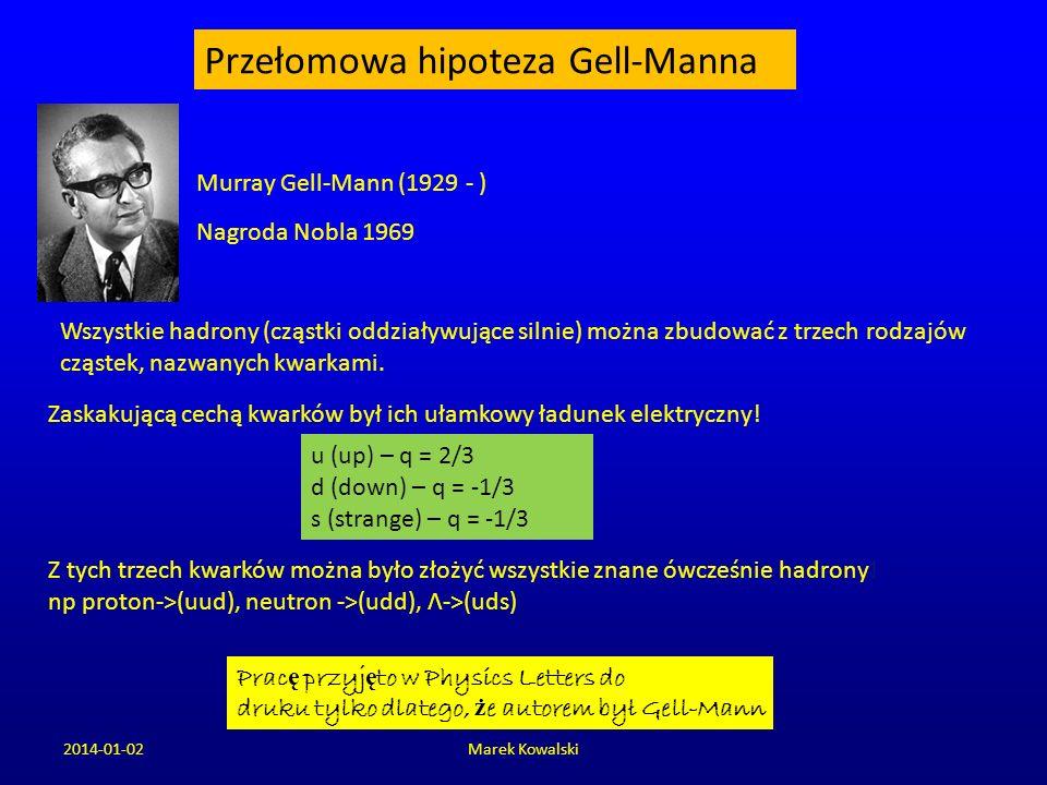 Przełomowa hipoteza Gell-Manna