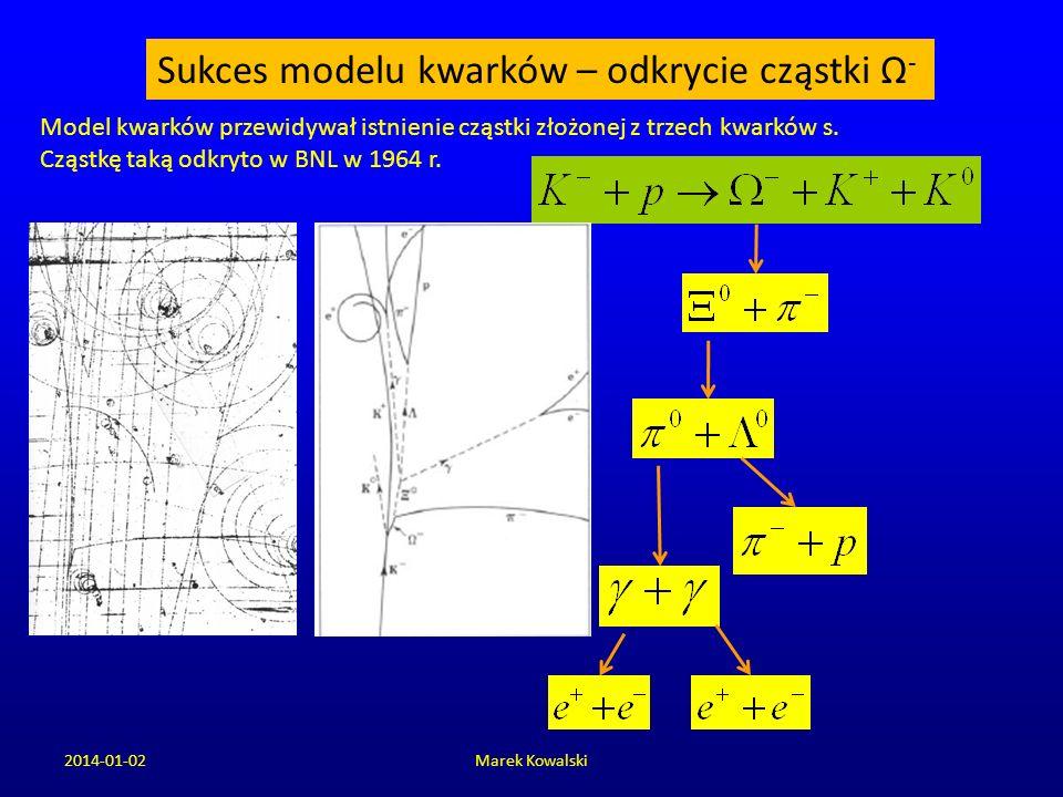 Sukces modelu kwarków – odkrycie cząstki Ω-