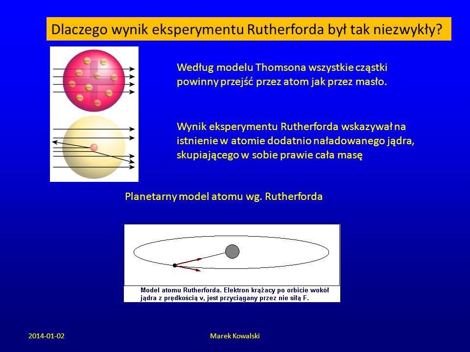 Dlaczego wynik eksperymentu Rutherforda był tak niezwykły