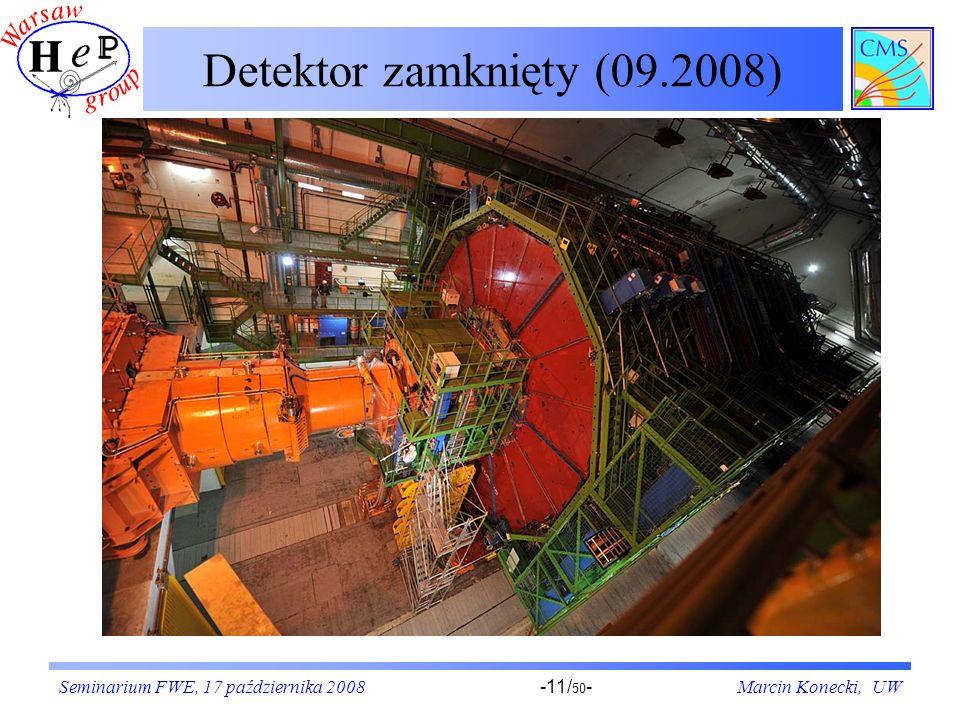 Detektor zamknięty (09.2008) Seminarium FWE, 17 października 2008