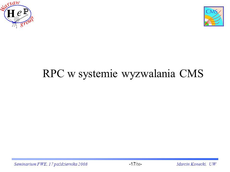RPC w systemie wyzwalania CMS