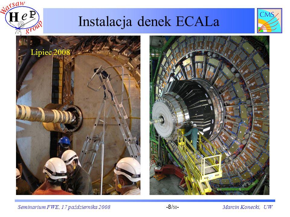 Instalacja denek ECALa
