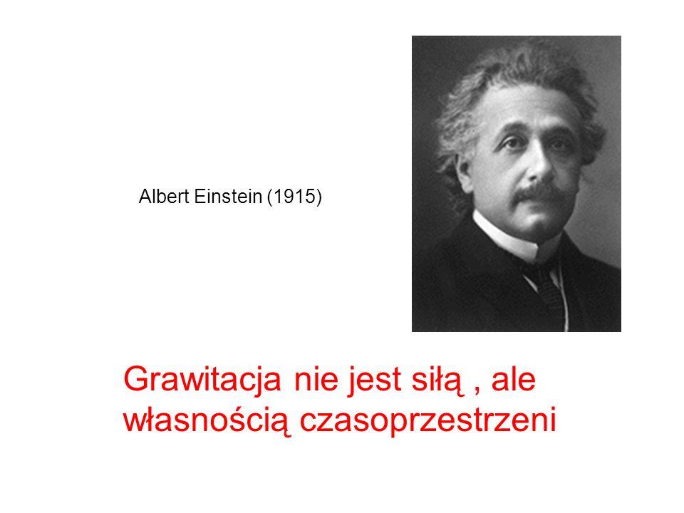 Grawitacja nie jest siłą , ale własnością czasoprzestrzeni