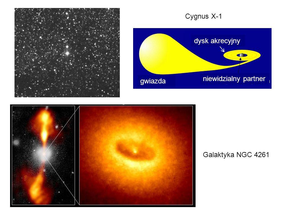 Cygnus X-1 dysk akrecyjny niewidzialny partner gwiazda Galaktyka NGC 4261