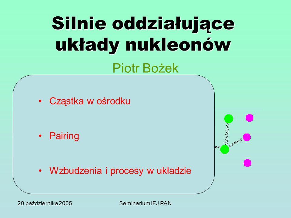 Silnie oddziałujące układy nukleonów