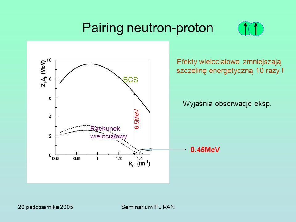 Pairing neutron-proton