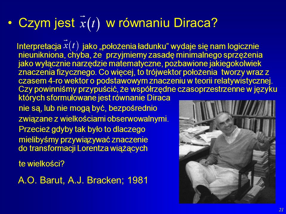 Czym jest w równaniu Diraca