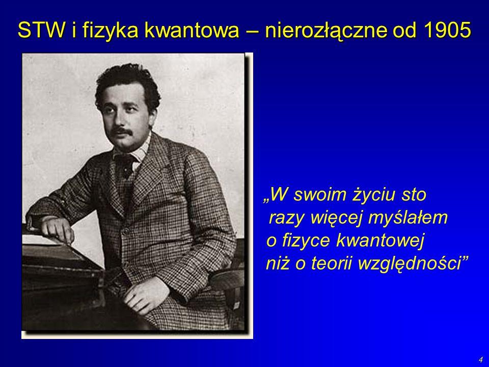 STW i fizyka kwantowa – nierozłączne od 1905
