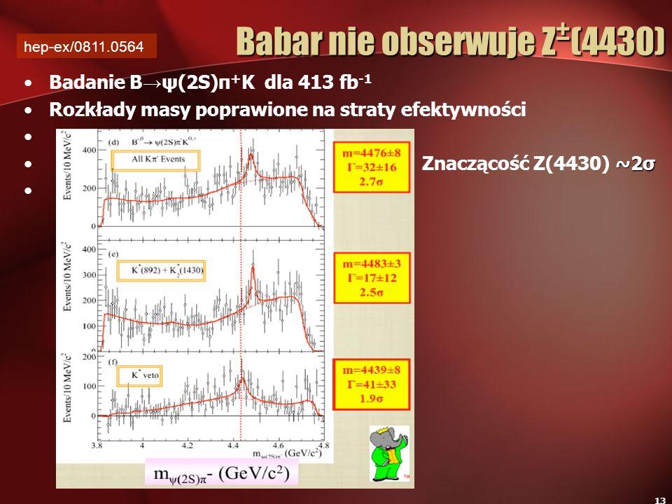 Babar nie obserwuje Z±(4430)