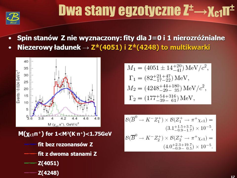 Dwa stany egzotyczne Z±→χc1π±
