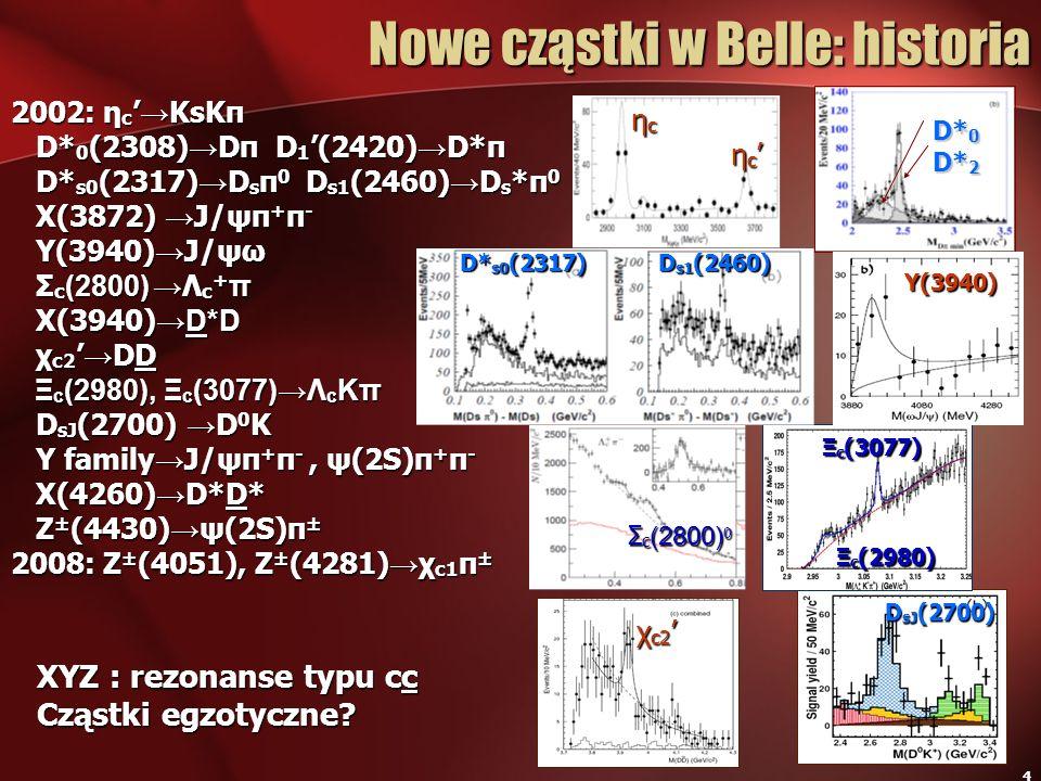 Nowe cząstki w Belle: historia
