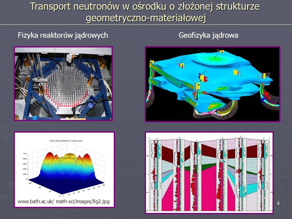 Transport neutronów w ośrodku o złożonej strukturze
