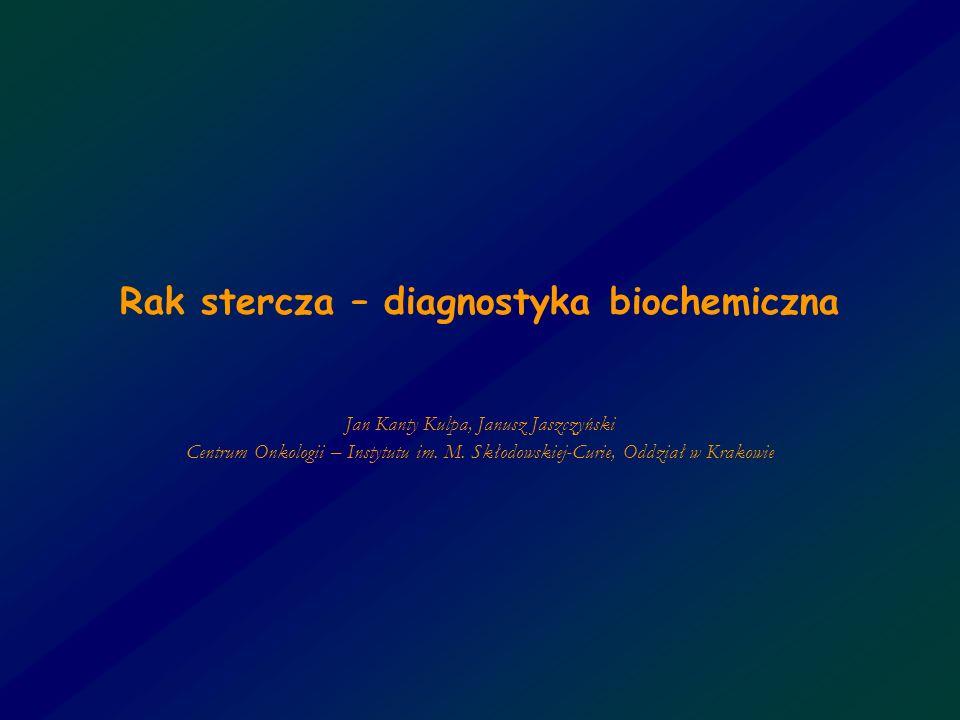 Rak stercza – diagnostyka biochemiczna