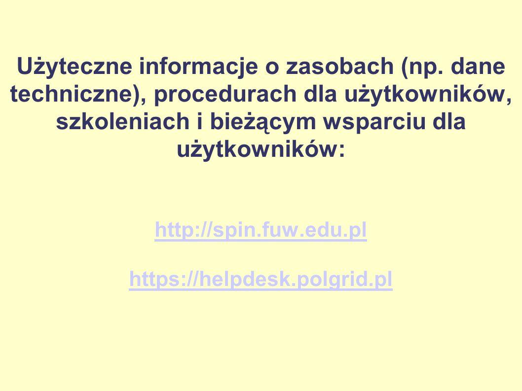 Użyteczne informacje o zasobach (np