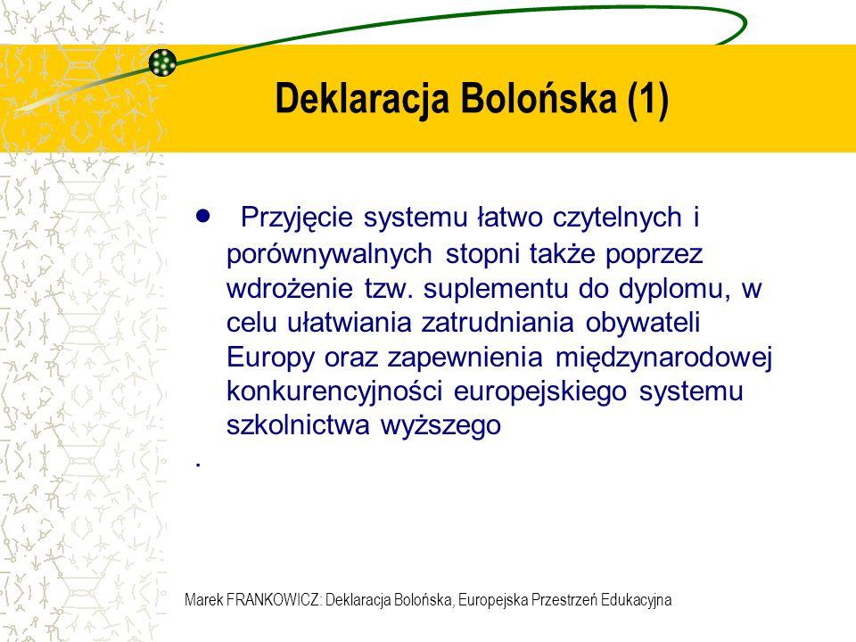 Deklaracja Bolońska (1)