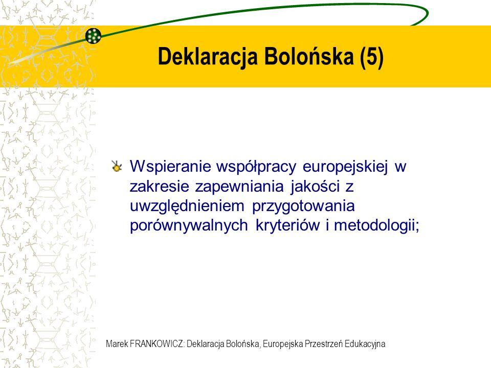 Deklaracja Bolońska (5)