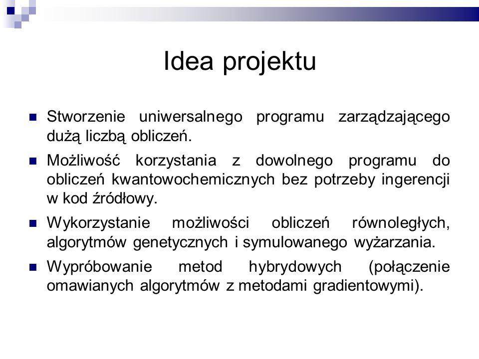 Idea projektu Stworzenie uniwersalnego programu zarządzającego dużą liczbą obliczeń.