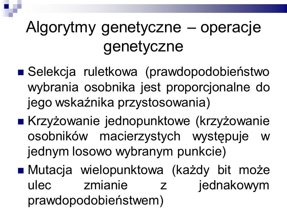Algorytmy genetyczne – operacje genetyczne