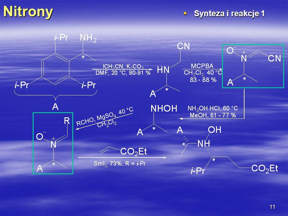 Nitrony Synteza i reakcje 1