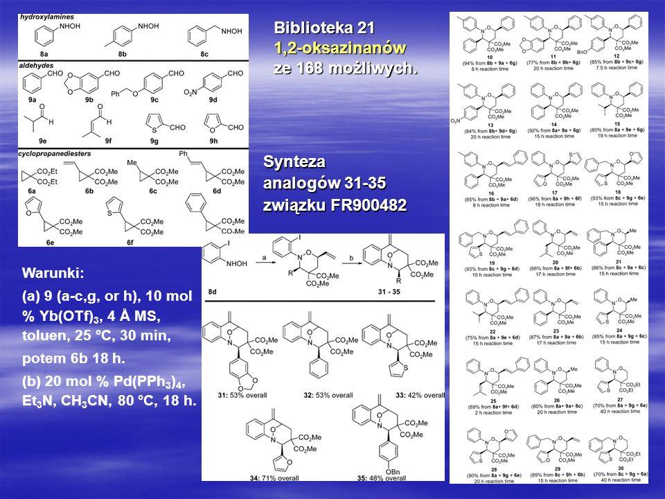 Biblioteka 21 1,2-oksazinanów ze 168 możliwych. Synteza analogów 31-35