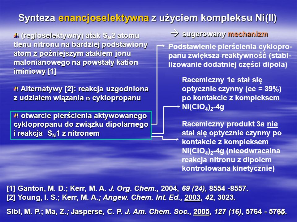 Synteza enancjoselektywna z użyciem kompleksu Ni(II)