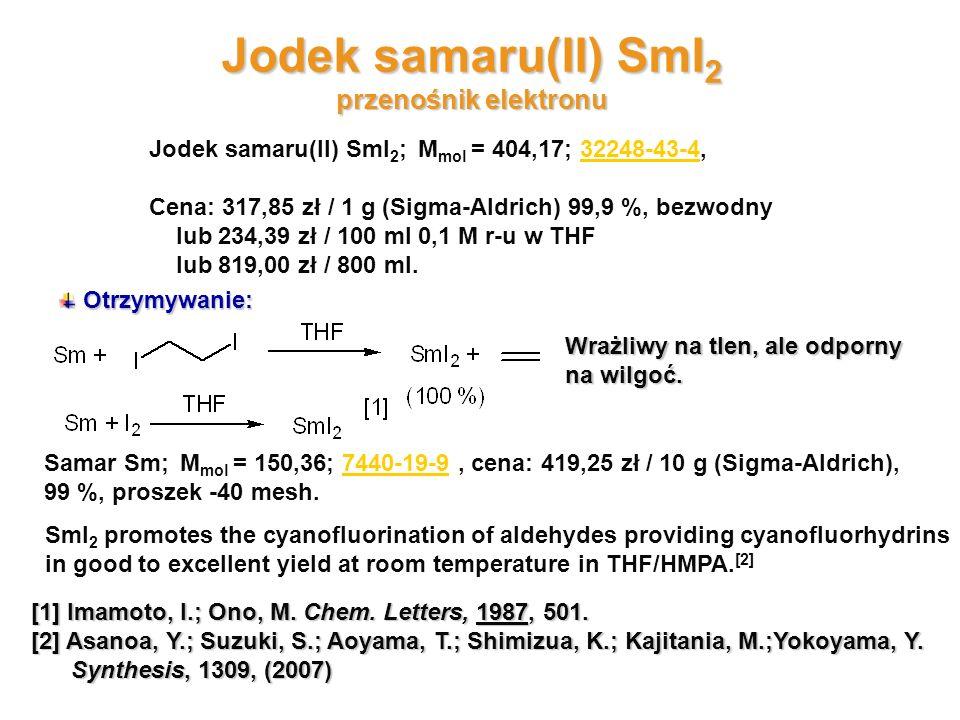 Jodek samaru(II) SmI2 przenośnik elektronu