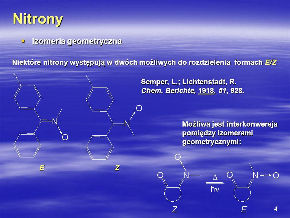 Nitrony Izomeria geometryczna