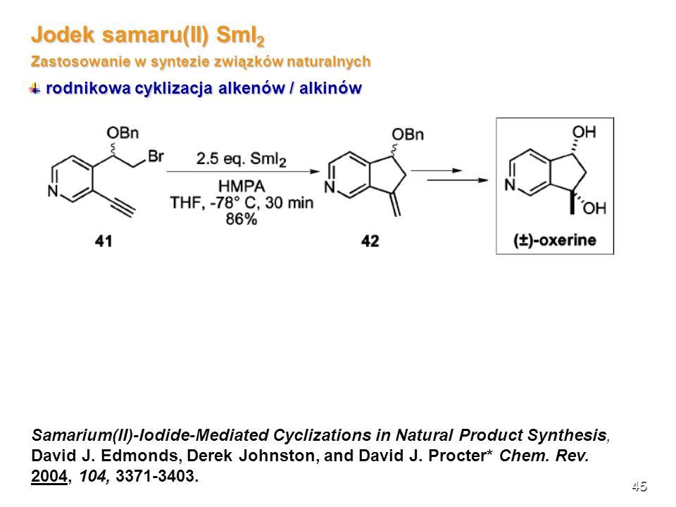 Zastosowanie w syntezie związków naturalnych